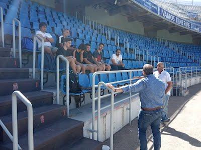 Visita a las nuevas oficinas del C.D.Tenerife en el Estadio Heliodoro Rodríguez López