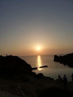 Puesta de sol en Mellieħa.